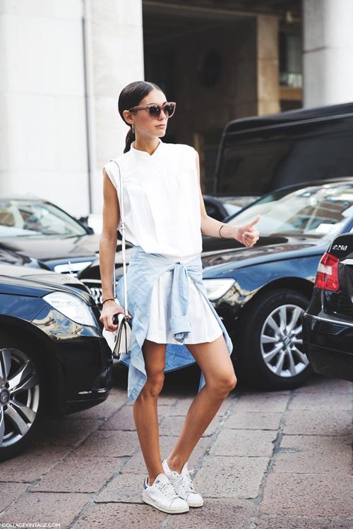 Váy sơ mi: Đẹp từ công sở đến đường phố - 8