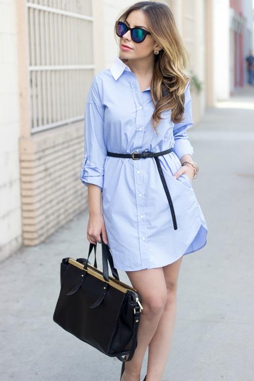 Váy sơ mi: Đẹp từ công sở đến đường phố - 9