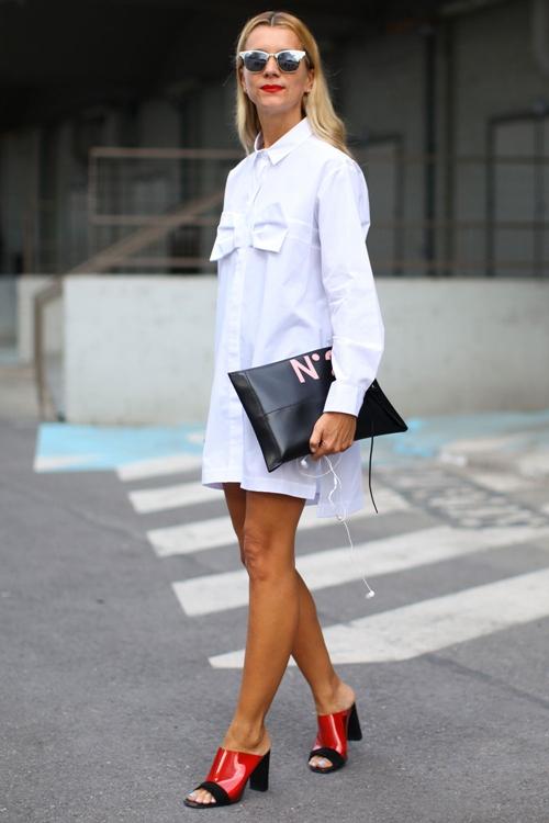 Váy sơ mi: Đẹp từ công sở đến đường phố - 13