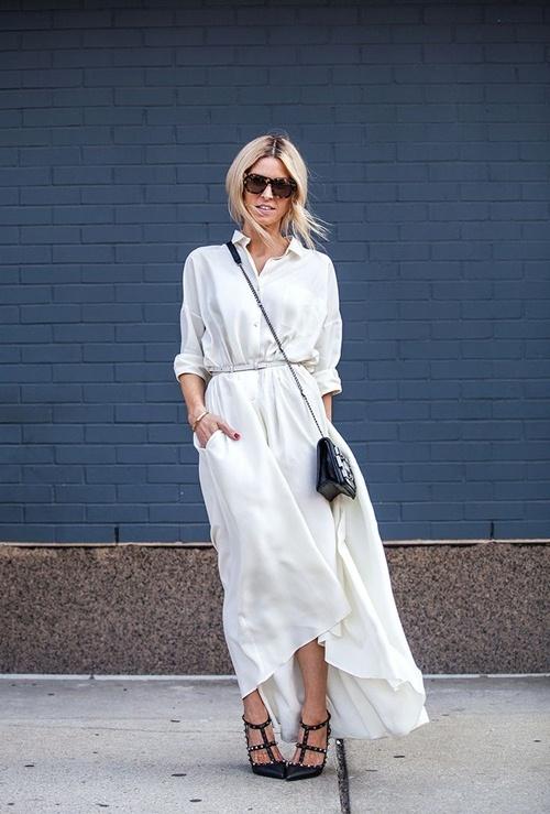 Váy sơ mi: Đẹp từ công sở đến đường phố - 11