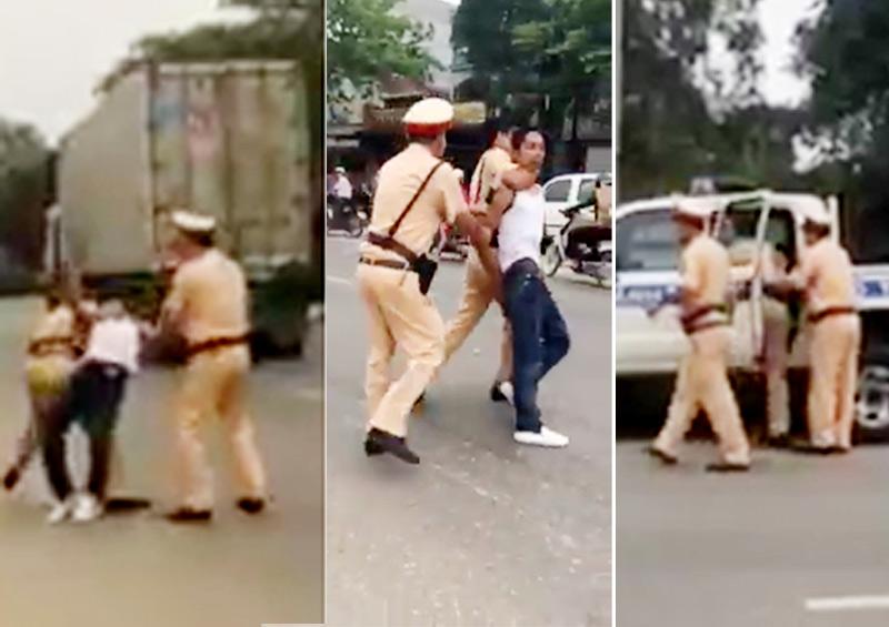 Thanh niên vi phạm giao thông vác dao dọa chém cảnh sát - 1