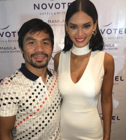 Pacquiao đắm đuối bên Hoa hậu Hoàn vũ ngày trở về - 1