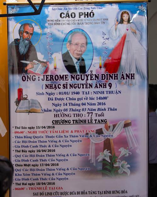Tang lễ nhạc sĩ Nguyễn Ánh 9 theo nghi thức Công Giáo - 2