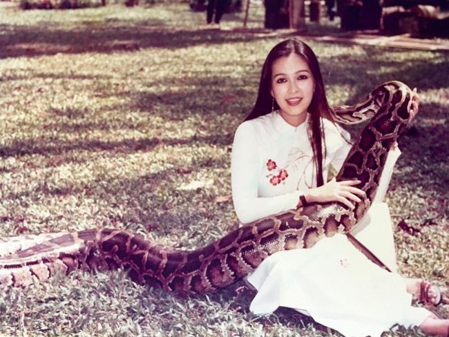 Năm 1989, Diễm My đóng quảng cáo cho một đơn vị sản phẩm mỡ trăn và cô phải ôm một chú trăn khổng lồ để chụp hình ở công viên.