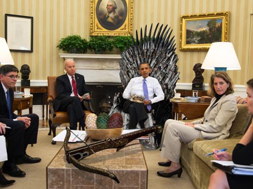 """Tổng thống Obama xem trước """"Trò chơi vương quyền 6"""" - 2"""