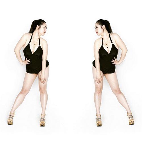 Vẻ đẹp siêu sexy của nàng mẫu béo duy nhất Hàn Quốc - 5