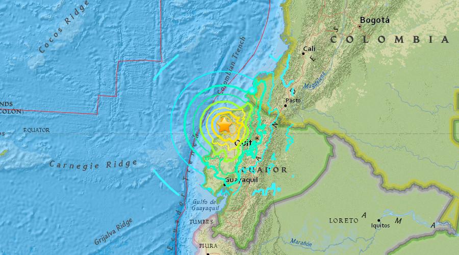 Động đất khiến 246 người chết, 2500 người bị thương ở Ecuador - 1