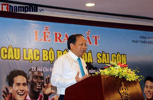 Bí thư Đinh La Thăng chúc mừng CLB Sài Gòn - 1