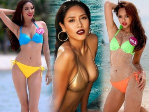 """Đường cong sexy của 8 mỹ nữ Việt """"nghiện"""" thi sắc đẹp"""
