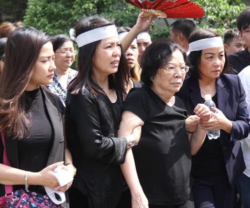 Vợ con khóc ngất trong lễ hoả táng nhạc sỹ Nguyễn Ánh 9 - 13