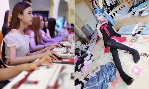 Gái trẻ mặc sexy chơi game cùng khách kiếm trăm triệu - 10