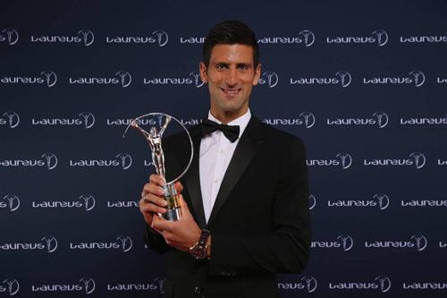 Djokovic vượt Messi - Bolt, giành giải VĐV của năm - 1