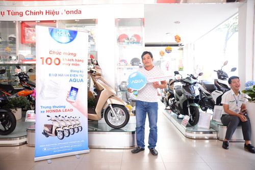 Bảo hành điện tử AQUA và 100 khách hàng may mắn trúng xe Lead - 2