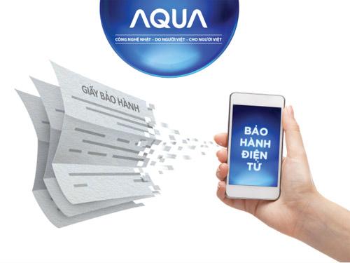 Bảo hành điện tử AQUA và 100 khách hàng may mắn trúng xe Lead - 4