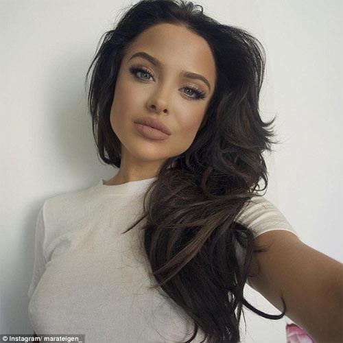 """Người mẫu 21 tuổi """"gây sốt"""" vì đẹp như Angelina Jolie - 1"""