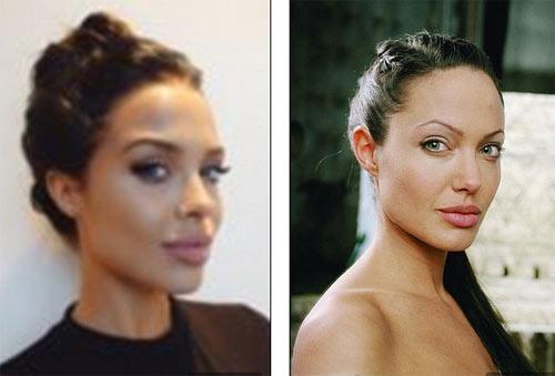 """Người mẫu 21 tuổi """"gây sốt"""" vì đẹp như Angelina Jolie - 2"""