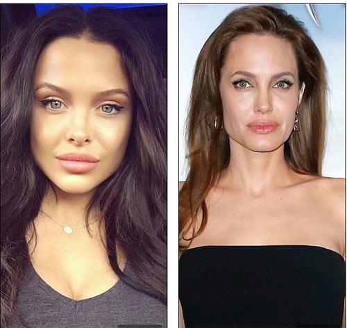 """Người mẫu 21 tuổi """"gây sốt"""" vì đẹp như Angelina Jolie - 3"""
