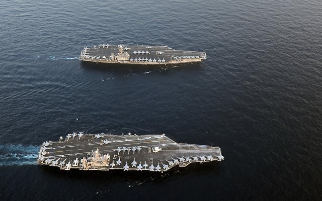Ảnh: Độ hoành tráng của tàu sân bay Mỹ - 15