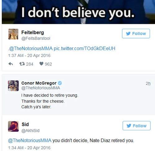 """McGregor """"về hưu"""" vì làm phật lòng chủ tịch UFC - 4"""