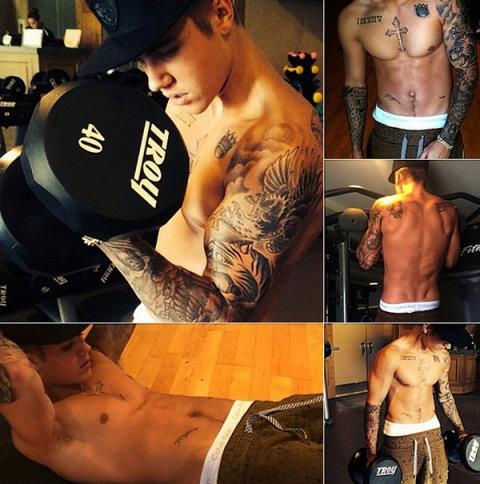 Hành trình 5 năm tạo cơ bắp 6 múi của Justin Bieber - 9