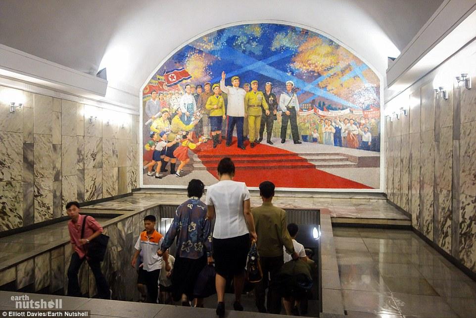 Bất ngờ hệ thống tàu điện ngầm bí mật ở Triều Tiên - 4