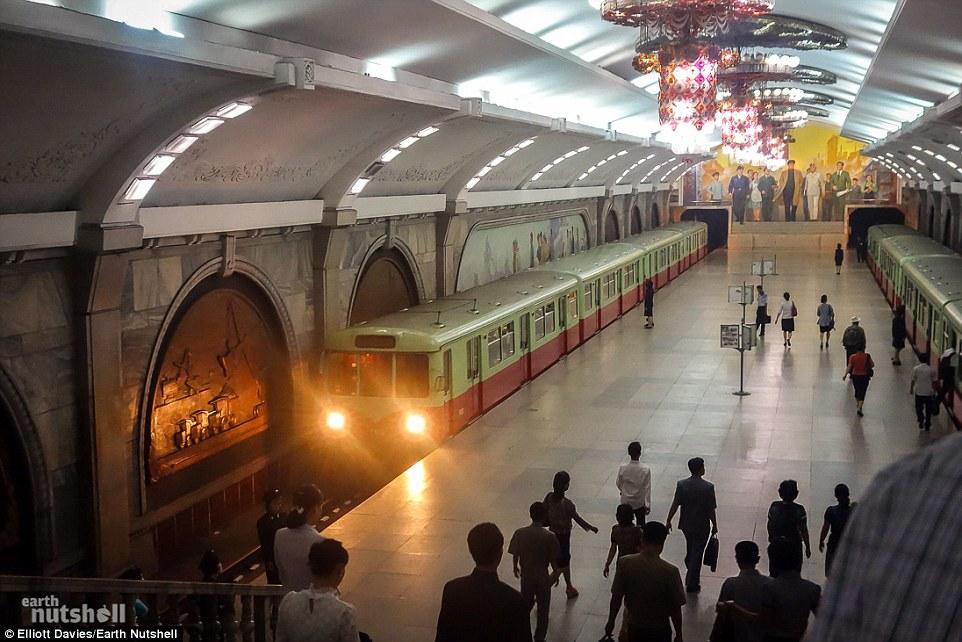 Bất ngờ hệ thống tàu điện ngầm bí mật ở Triều Tiên - 2