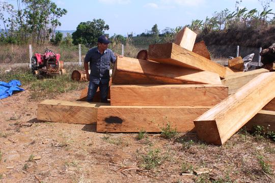 """Bắt xe quân sự chở gỗ lậu cho """"sếp"""" - 2"""