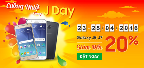 Cuồng nhiệt cùng J Day, Samsung Galaxy J5, J7 giảm ngay đến 20% - 1