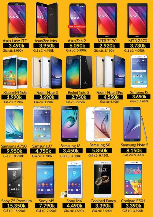 Ngày vàng smartphone - Oppo F1 3 triệu, iPhone 5s 2.5 triệu - 2