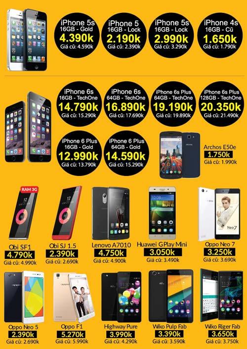 Ngày vàng smartphone - Oppo F1 3 triệu, iPhone 5s 2.5 triệu - 3