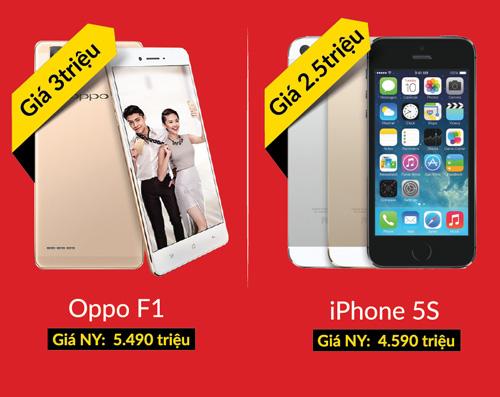 Ngày vàng smartphone - Oppo F1 3 triệu, iPhone 5s 2.5 triệu - 1