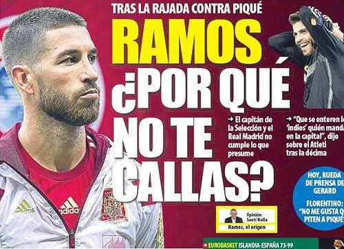 Ramos chỉ thẳng Pique bớt xỉa xói trên mạng xã hội - 1