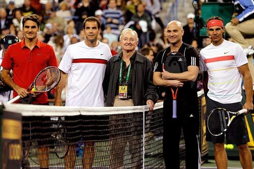 Video kinh điển: Federer-Sampras đấu Agassi-Nadal - 1