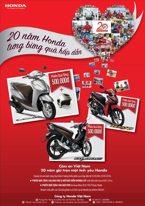 Tưng bừng đón quà tặng hấp dẫn nhân dịp 20 năm thành lập Honda VN - 4