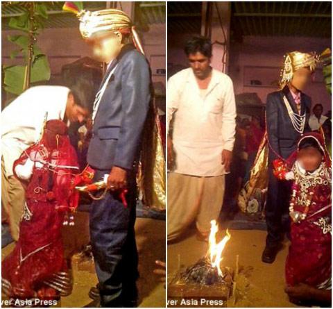 """Ấn Độ: Sốc với đám cưới """"cô dâu"""" 5 tuổi, """"chú rể"""" 11 tuổi - 1"""