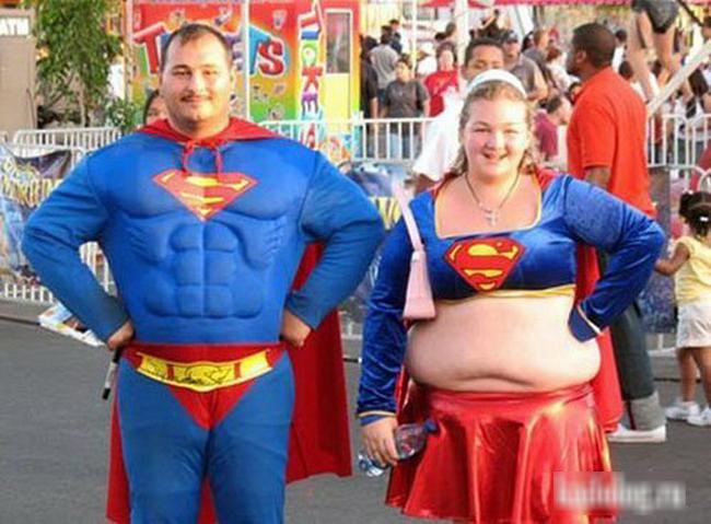"""Gia đình  """" Super man """"  phiên bản lỗi."""