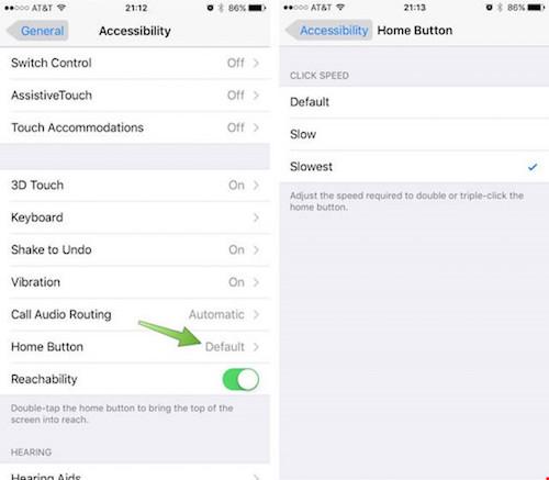 Thủ thuật điều chỉnh tốc độ nút Home trên iPhone - 2