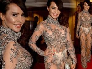 """Thời trang - Nội y """"độc"""" giúp người đẹp Anh mặc váy hở 90% cơ thể"""