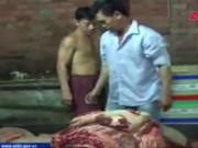 Video An ninh - Phát hiện 2 tấn thịt lợn chết đóng băng trong tủ đá