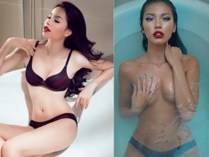 Sao Việt chuộng khoe ảnh ướt át trong bồn tắm