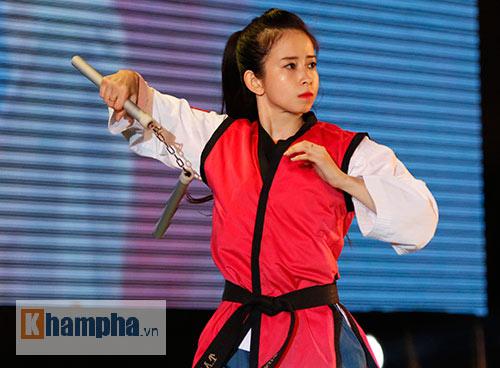 """""""Hot girl"""" Tuyết Vân tung hoành tại Liên hoan võ thuật - 7"""