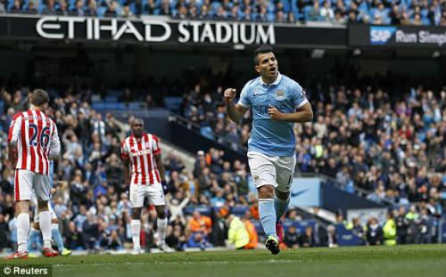 Video Man City vs Stoke - Clip bàn thắng tỉ số 4 - 0 Full - 1