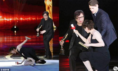 Mỹ nhân ngã sấp mặt trên sân khấu LHP Quốc tế Bắc Kinh - 1