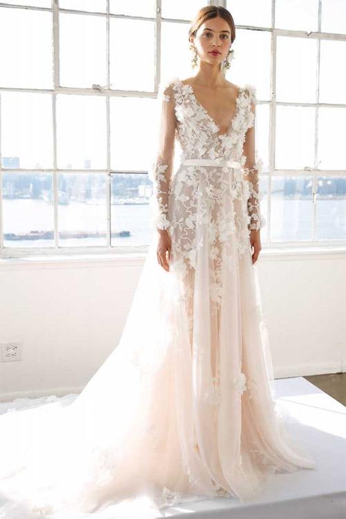 """Váy cưới đẹp tới mức """"phải nín thở"""" của Marchesa - 1"""