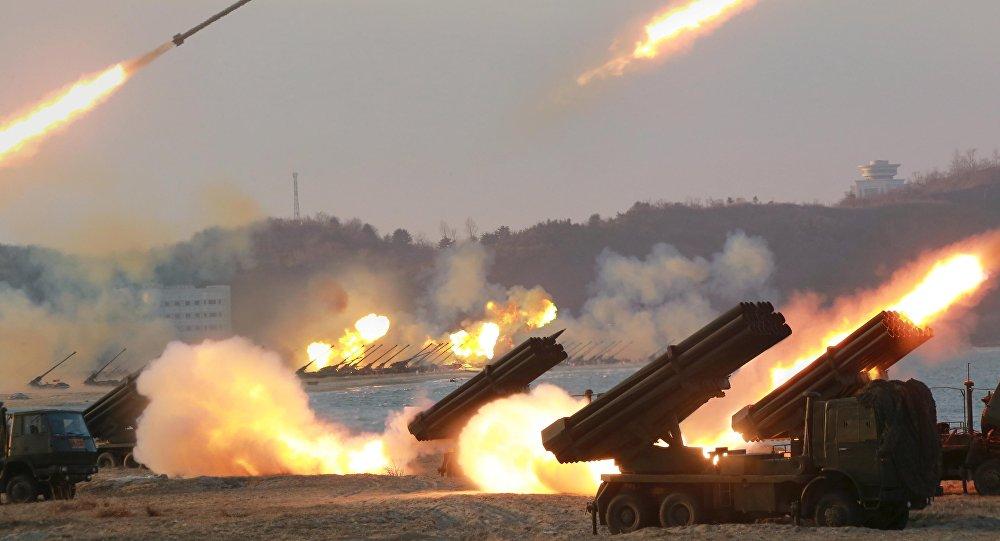 Tin Triều Tiên Hàn Quốc - Điều 300 rocket dọc biên giới Hàn - 1