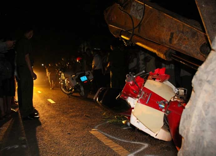 Vụ tự đâm xe trọng thương: CSGT thừa nhận truy đuổi - 1