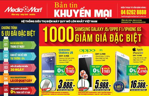 Chào hè 2016, MediaMart giảm giá đặc biệt 1000 Smartphone hàng hiệu - 1