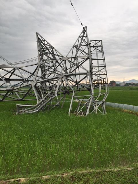 Đổ cột điện 500 KV ở Quảng Ninh - Xác định nguyên nhân - 1