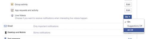 Cách tắt thông báo khi có người tạo Live Video trên Facebook - 1