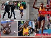Thể thao - Bị ngã rồi bị uy hiếp, VĐV vẫn vô địch marathon